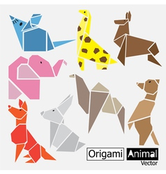Origami animal design vector image vector image