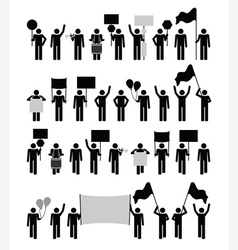 Protest - pictogram collection vector