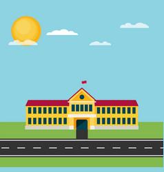 school flat vector image