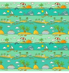 Sea landscape vector