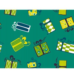 seamless gift box pattern vector image vector image
