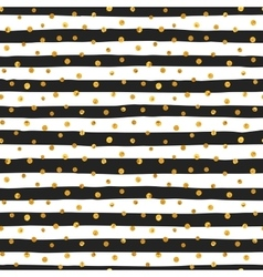 Seamless pattern of random gold dots vector image