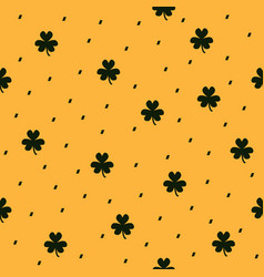 Shamrock pattern seamless clover dashed vector