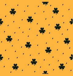 shamrock pattern seamless clover dashed vector image vector image