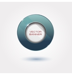 Shiny button with metallic elements design vector