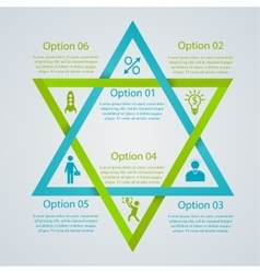 Two triangles infographic vector