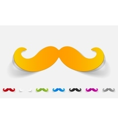 realistic design element mustache vector image