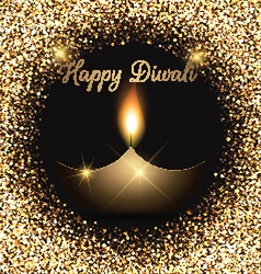 Glittery diwali celebration background vector