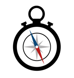 Compass device icon vector