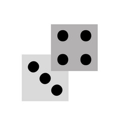 casino dices isolated icon vector image