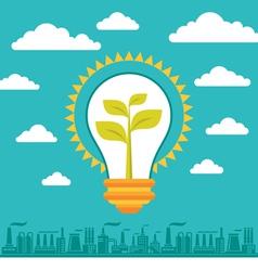 Light bulb green energy vector