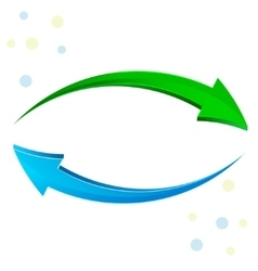Green blue arrow 3d vector
