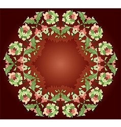 seventeen series designed from the ottoman pattern vector image