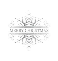 Decorative silver christmas design element vector