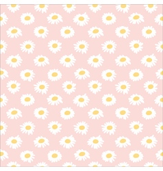 Seamless floral pattern with chamomiles vector