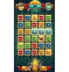 Jungle shamans GUI playing field window vector image