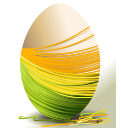 Handcraft Easter egg vector image