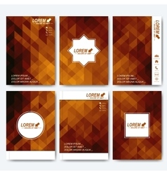 Golden templates for brochure flyer cover vector