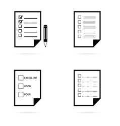 Check list icon in black vector
