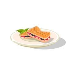 Traditional italian sandwich vector