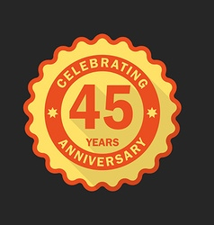 Anniversary emblem logo template flat style icon vector