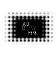 Black and white rectangle halftone pattern vector