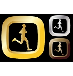 Runner icon vector