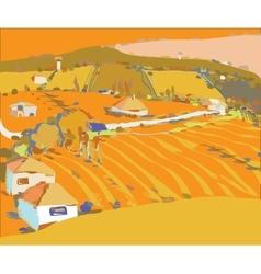 Autumn rural background vector