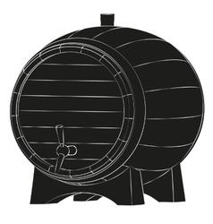 Beer barrel silhouette vector