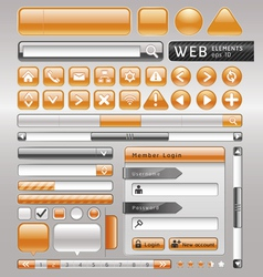 Blank buttons for website and app vector image
