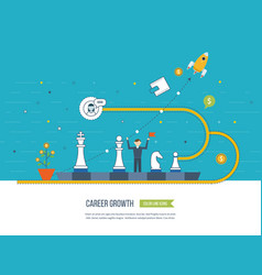 career growth selecting candidates finance vector image