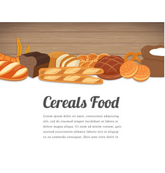 Cereals food card design food background with vector