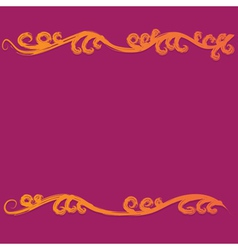 Colorful flourish curves vector image
