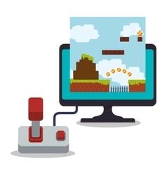 computer screen controller game online joystick vector image