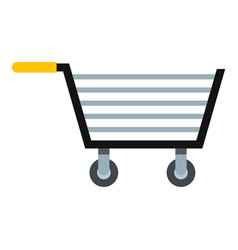 Empty steel trolley icon isolated vector