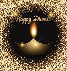 Glittery diwali celebration background vector