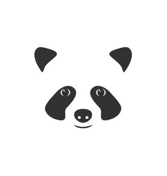 head panda little panda logo vector image
