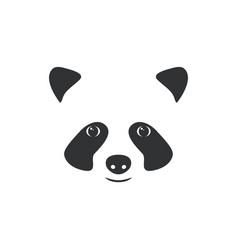 head panda little panda logo vector image vector image