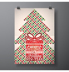 Merry Christmas Holiday and Happy New Year vector image vector image