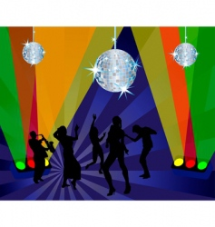 nightclub dancers vector image