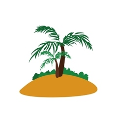 Palm Tree icon Nature and plant design vector image