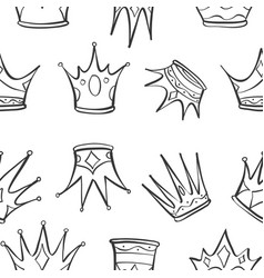 Pattern crown art vector