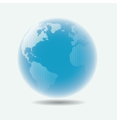 Raster linear globe with blur effect vector image vector image