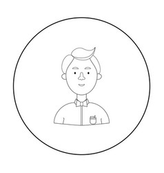 Scientist icon in outline style isolated on white vector
