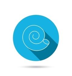Sea shell icon Spiral seashell sign vector image vector image