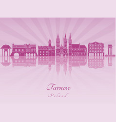 Tarnow skyline in purple radiant orchid vector