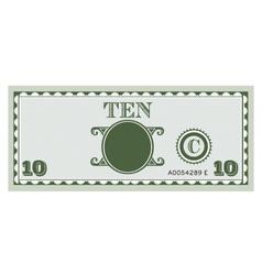 Ten money bill image vector image
