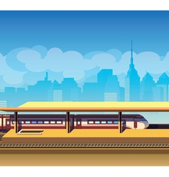 Train station vector