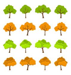 Tree icons set vector