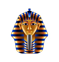 Tutankhamuns mask isolated on white vector image vector image